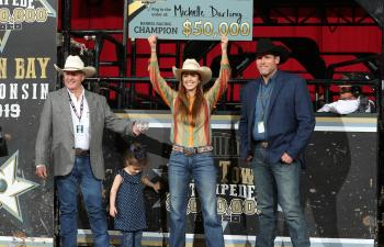 Michelle Darling, 2019 Titletown Stampede Champion