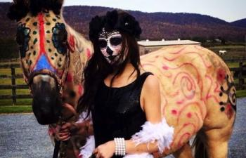 Day of the dead horse halloween costume
